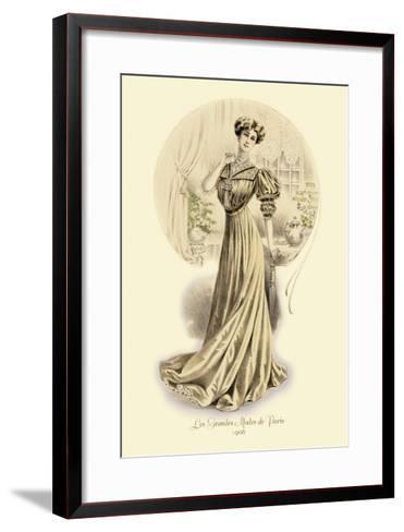 Le Grandes Modes de Paris: Golden Gown--Framed Art Print
