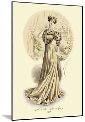 Le Grandes Modes de Paris: Golden Gown--Mounted Art Print