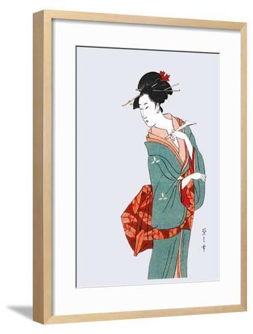 Posing--Framed Art Print
