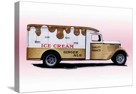 Ice Cream Truck--Stretched Canvas Print