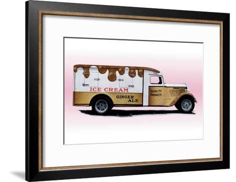Ice Cream Truck--Framed Art Print