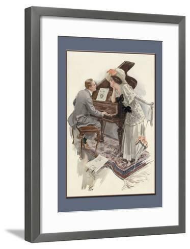 Music Hath Charms-Harrison Fisher-Framed Art Print