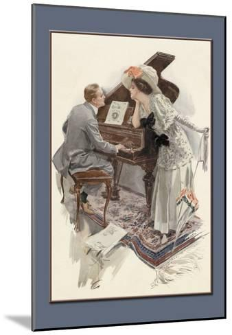 Music Hath Charms-Harrison Fisher-Mounted Art Print
