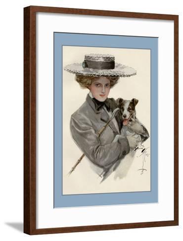 Isn't He Sweet?-Harrison Fisher-Framed Art Print