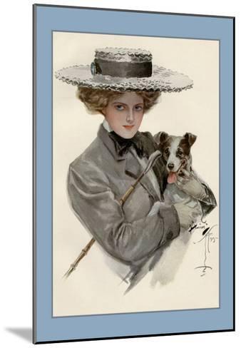 Isn't He Sweet?-Harrison Fisher-Mounted Art Print