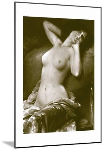 Radiant Nude--Mounted Art Print