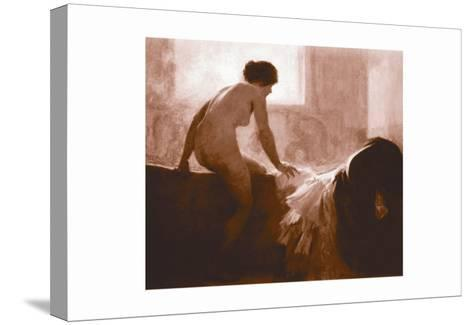 Into the Bath--Stretched Canvas Print