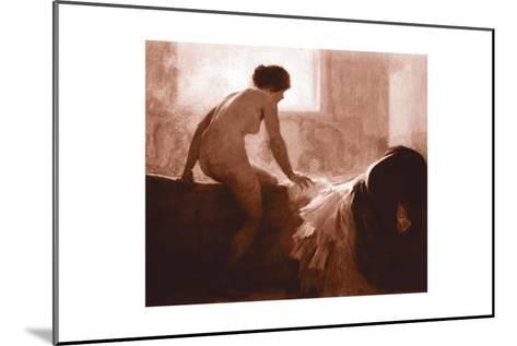 Into the Bath--Mounted Art Print