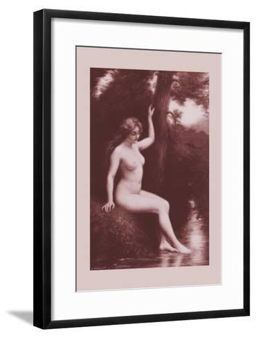The Stream-A. Hanriot-Framed Art Print