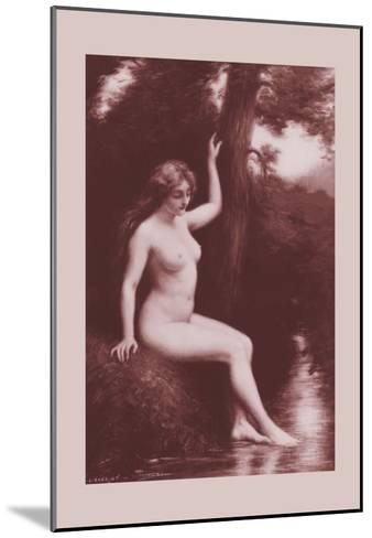 The Stream-A. Hanriot-Mounted Art Print