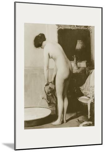 Pouring a Bath-P. Sezille Des Essarts-Mounted Art Print