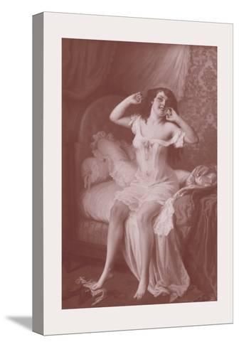 Au Lever-Jules Scalbert-Stretched Canvas Print