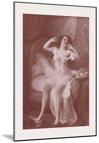 Au Lever-Jules Scalbert-Mounted Art Print