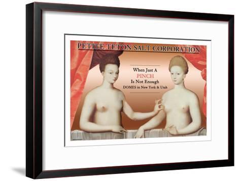 Petite Teton Salt Corporation--Framed Art Print