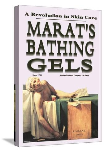 Marat's Bathing Gels: A Revolution in Skin Care--Stretched Canvas Print