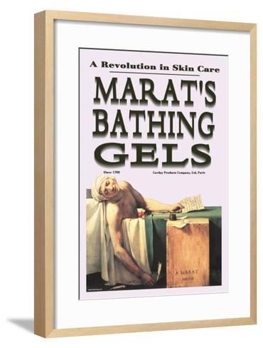 Marat's Bathing Gels: A Revolution in Skin Care--Framed Art Print