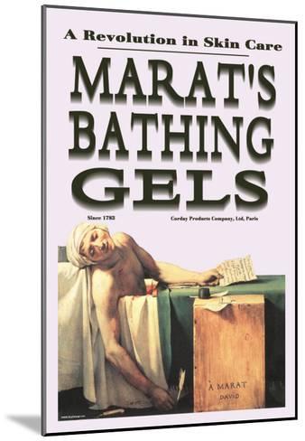 Marat's Bathing Gels: A Revolution in Skin Care--Mounted Art Print