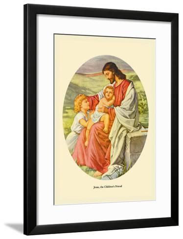 Jesus, The Children's Friend- Plockhorst-Framed Art Print