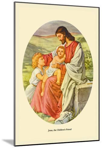 Jesus, The Children's Friend- Plockhorst-Mounted Art Print