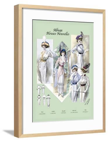 Album Blouses Nouvelles: A Bit of Sophistication--Framed Art Print