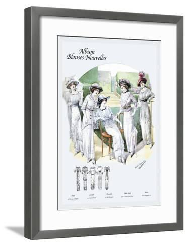 Album Blouses Nouvelles: Leisure on the Lawn--Framed Art Print