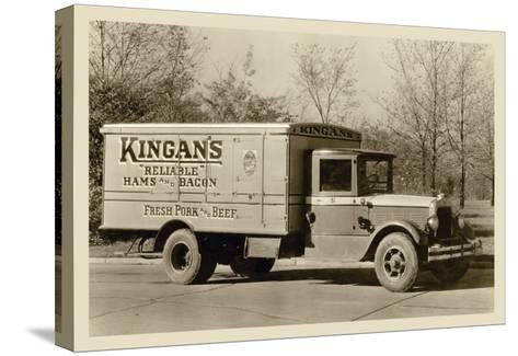 Kingan's Meat Truck--Stretched Canvas Print