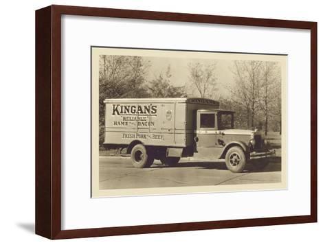 Kingan's Meat Truck--Framed Art Print