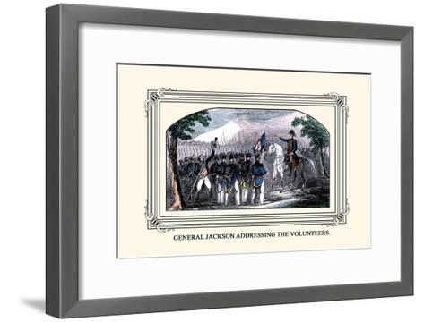 General Jackson Addressing the Volunteers-J. Downes-Framed Art Print