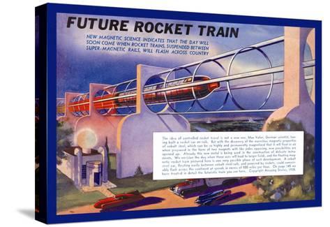 Future Rocket Train-H.w. Mccaulley-Stretched Canvas Print