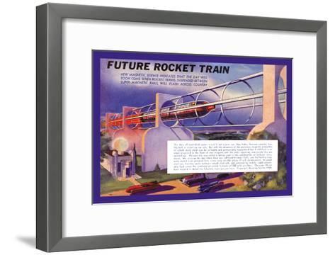 Future Rocket Train-H.w. Mccaulley-Framed Art Print