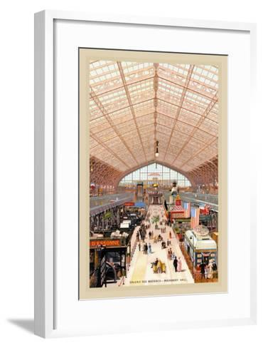 Machinery Hall at the Paris Exhibition, 1889--Framed Art Print