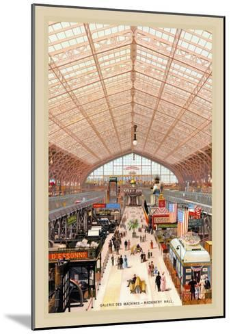 Machinery Hall at the Paris Exhibition, 1889--Mounted Art Print