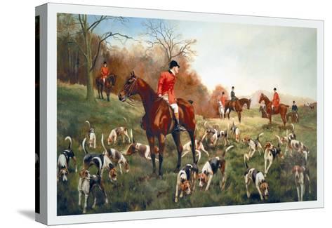 Halted-George Derville Rowlandson-Stretched Canvas Print