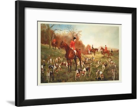 Halted-George Derville Rowlandson-Framed Art Print