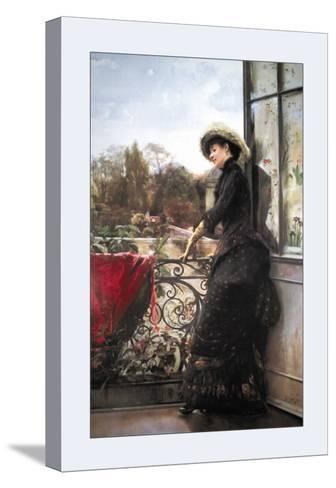 On the Terrace-Julius Stewart-Stretched Canvas Print