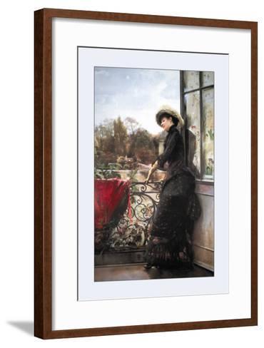 On the Terrace-Julius Stewart-Framed Art Print