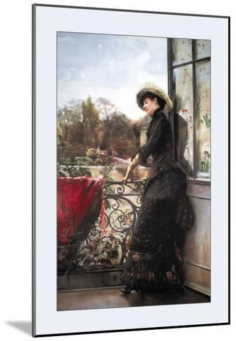 On the Terrace-Julius Stewart-Mounted Art Print