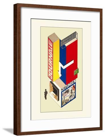 Entwurf Eines Kiosk-Herbert Boyer-Framed Art Print