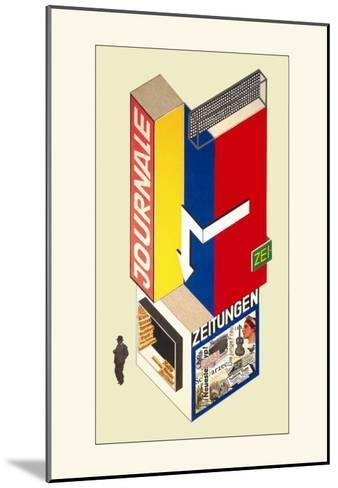 Entwurf Eines Kiosk-Herbert Boyer-Mounted Art Print