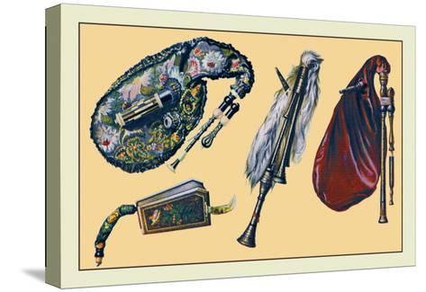 Cornemuse, Calabrian Bagpipe, Musette--Stretched Canvas Print