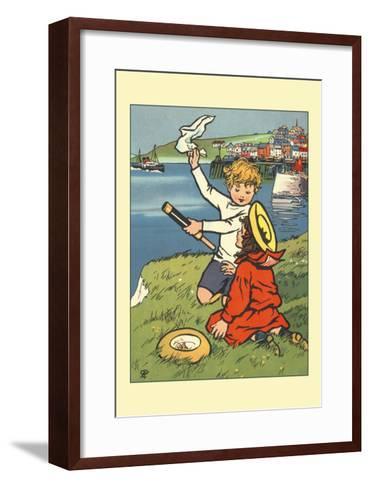 On the River-Rosa C. Petherick-Framed Art Print