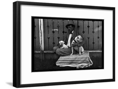 Bulldog, Master, and Pup--Framed Art Print