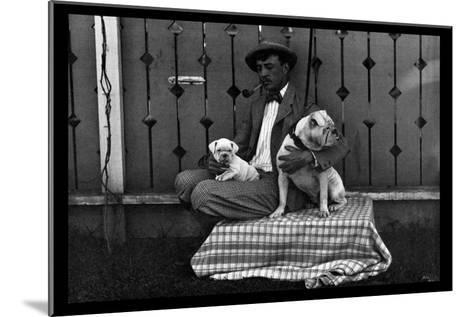 Bulldog, Master, and Pup--Mounted Art Print