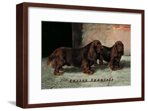 Two Champion Sussex Spaniels--Framed Art Print