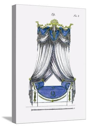 French Empire Bed No. 3--Stretched Canvas Print
