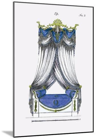 French Empire Bed No. 3--Mounted Art Print