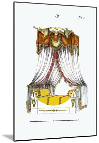 French Empire Bed No. 7--Mounted Art Print