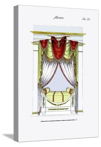 French Empire Alcove Bed No. 22--Stretched Canvas Print