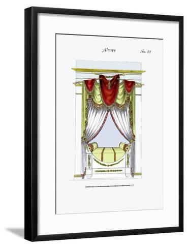 French Empire Alcove Bed No. 22--Framed Art Print