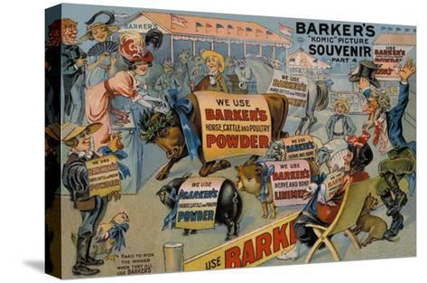 Barker's Horse, Cattle, and Poultry Powder--Stretched Canvas Print